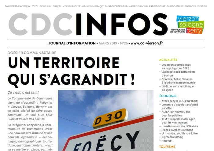 Publication : CDC INFOS N°26 MARS 2019